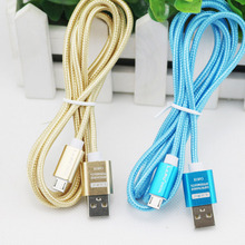 For Samsung Galaxy S4 S3 HTC Lenovo Huawei Phone Microusb Micro USB Cable 5V 2A Quick Charge Metal Braided Cord Data Sync Wire