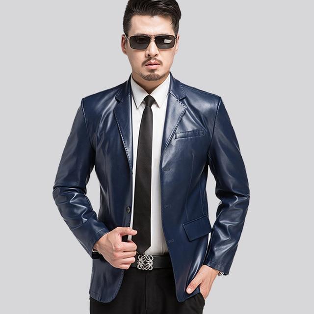 The New Spring 2017 Men Fur Coat Sheep Skin Man Skin Suit, Big Yards Men's Suit Jacket Leather Jacket Men