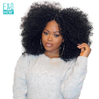 Kinky Curly Full Lace Human Hair Wigs With Baby Hair Bleached Knots 8 24 Inch Pre Plucked Hairline Brazilian Remy Hair Lace Wig
