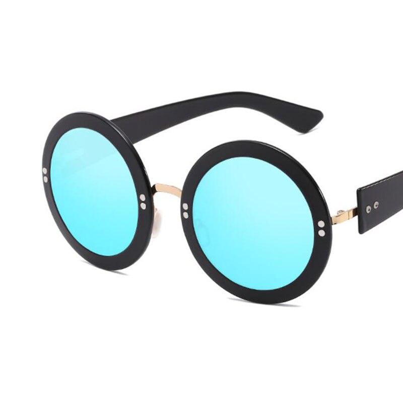 fashion sunglasses brand woman 2018 retro Round Sunglasses Mirror Lens Vintage glasses for men and women Hisper Eyewear uv400