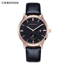 Chronos мужские часы водонепроницаемые бизнес модные повседневные