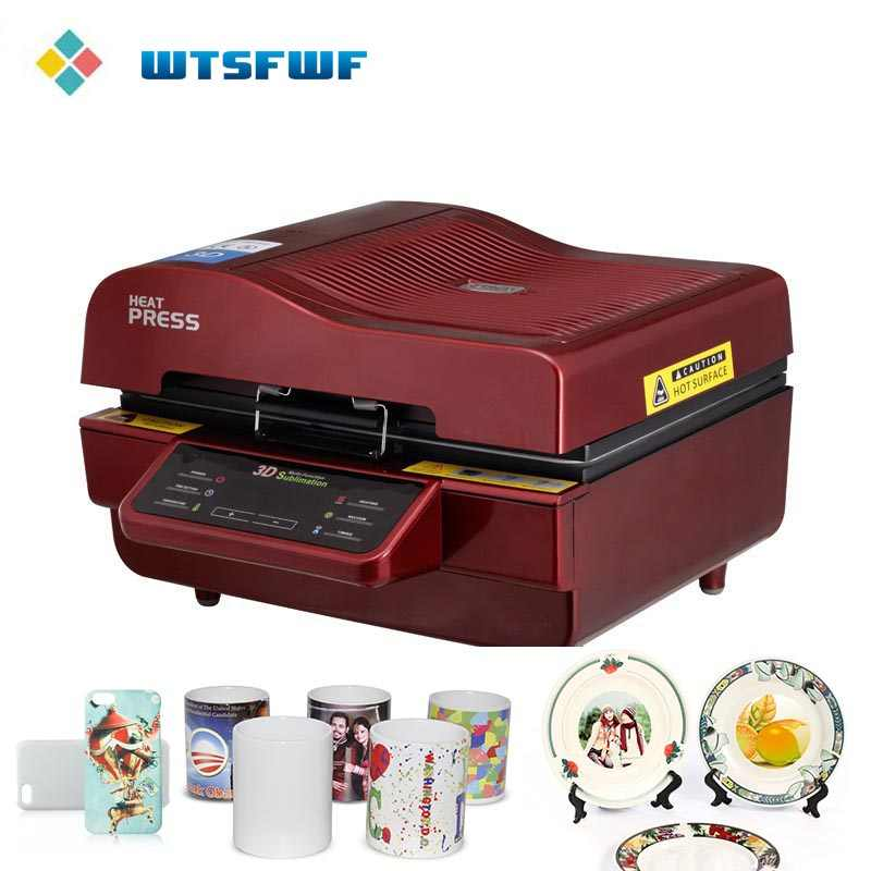 Freeshipping Wtsfwf A3 ST-3042 3D Sublimation Heat Press Printer Heat Press Machine for Cases Mugs Plates Glasses Ceramics Wood