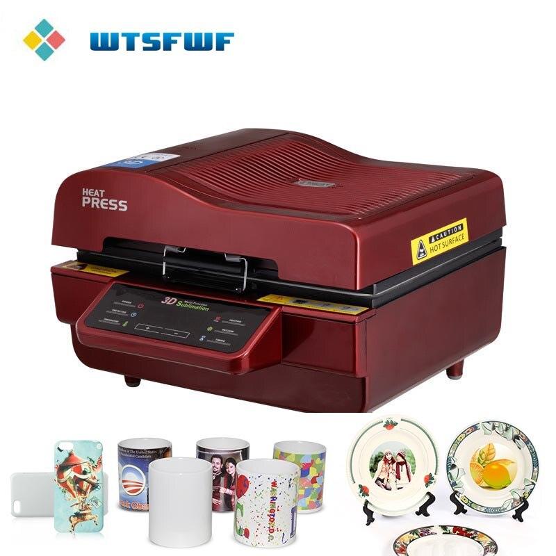 Freeshipping Wtsfwf ST-3042 3D Impressora Imprensa do Calor do Sublimation Máquina Da Imprensa do Calor para Os Casos de Placas Canecas Copos de Cerâmica de Madeira