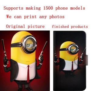 Image 5 - DIY טלפון שקית אישית תמונה תמונה עור מפוצל מקרה flip כיסוי עבור Xiaomi Redmi הערה 8T
