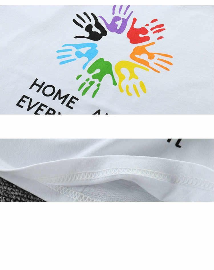 Moda rodzina pasujące ubrania matka córka Tshirt kobiet T-shirt dla dzieci dziewczyna chłopiec topy mama dziecko ojciec mama i dziecko