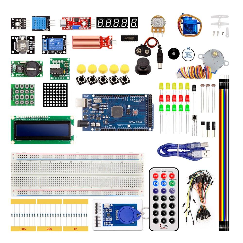 Mega 2560 r3 starter kit servo motor RFID Ultrasonic Variando LCD relé PARA ARDUINO UNO