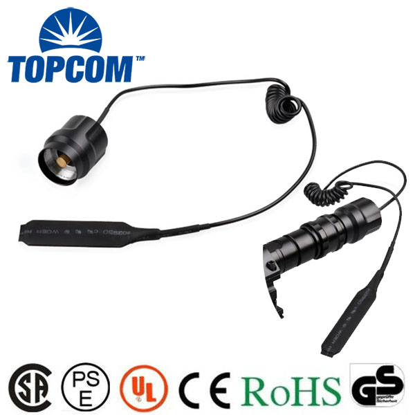 Remote Pressure Switch Rat tail Switch For C8 Q5/T6 Flashlight Torch