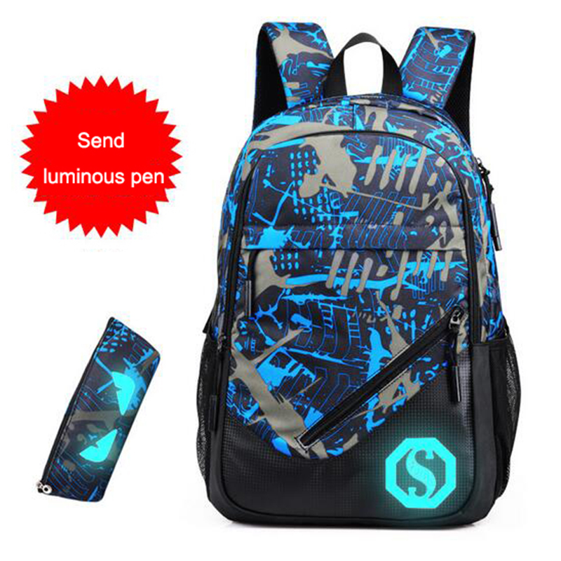 BAIBU Brand Men Backpack Casual Student College School Bags Oxford Backpacks for Laptop Large Capacity Computer