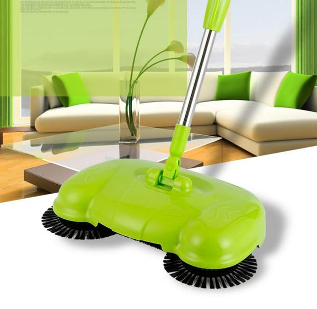 YiJiA Push Sweeper Vacuum Cleaner Household Floor Manually Cleaning Machine Broom No Need Bend Over