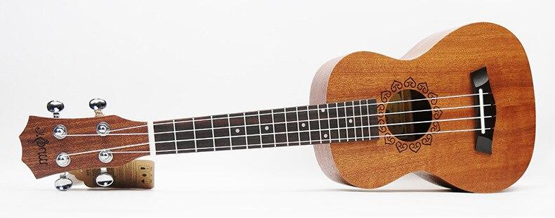SevenAngel 21 pouces ukulélé acajou Soprano guitare de voyage Hawaii 4 cordes Ukelele électrique acoustique Gitar avec ramassage EQ - 5