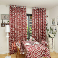 Free Shipping European Style Design Window Treatments Living Room Curtains Kitchen Door Curtain Home Textile Cotton