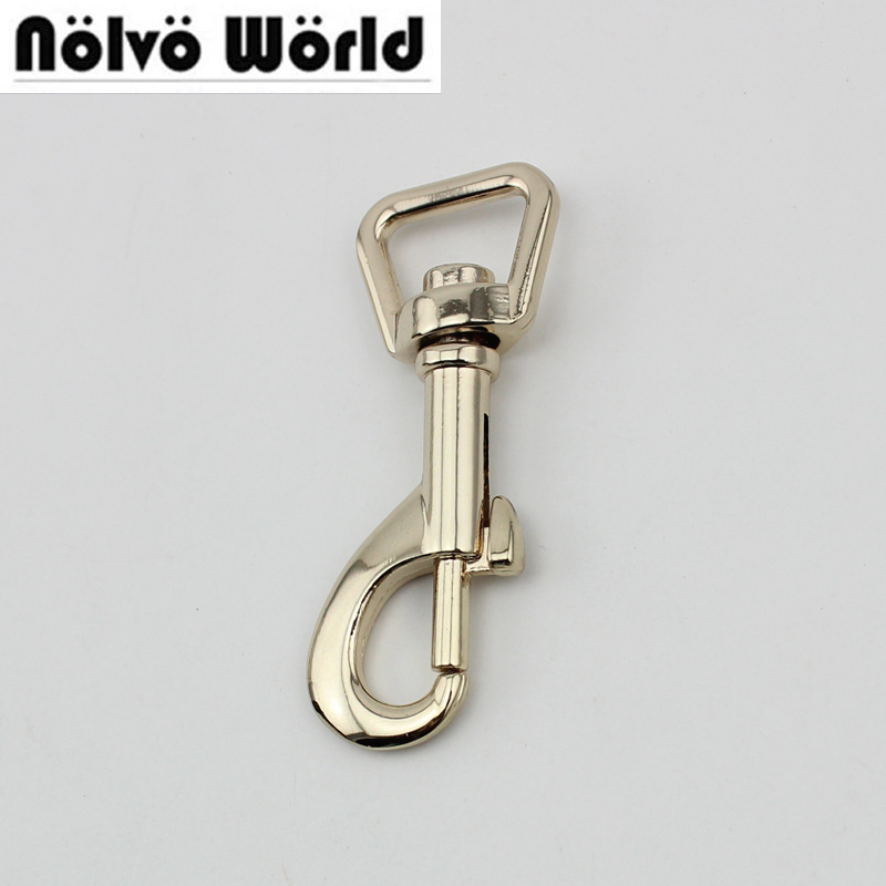 30pcs High Quality 13mm Top Ending Gold Silver Tone Trigger  DIY Snap Hook Clasp Metal Clip Swivel Dog Leash