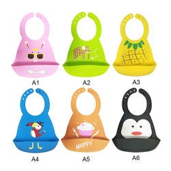 Детские вещи силиконовые нагрудники для девочек мультфильм мягкий складной силикагель Регулируемый водостойкий нагрудник для кормления