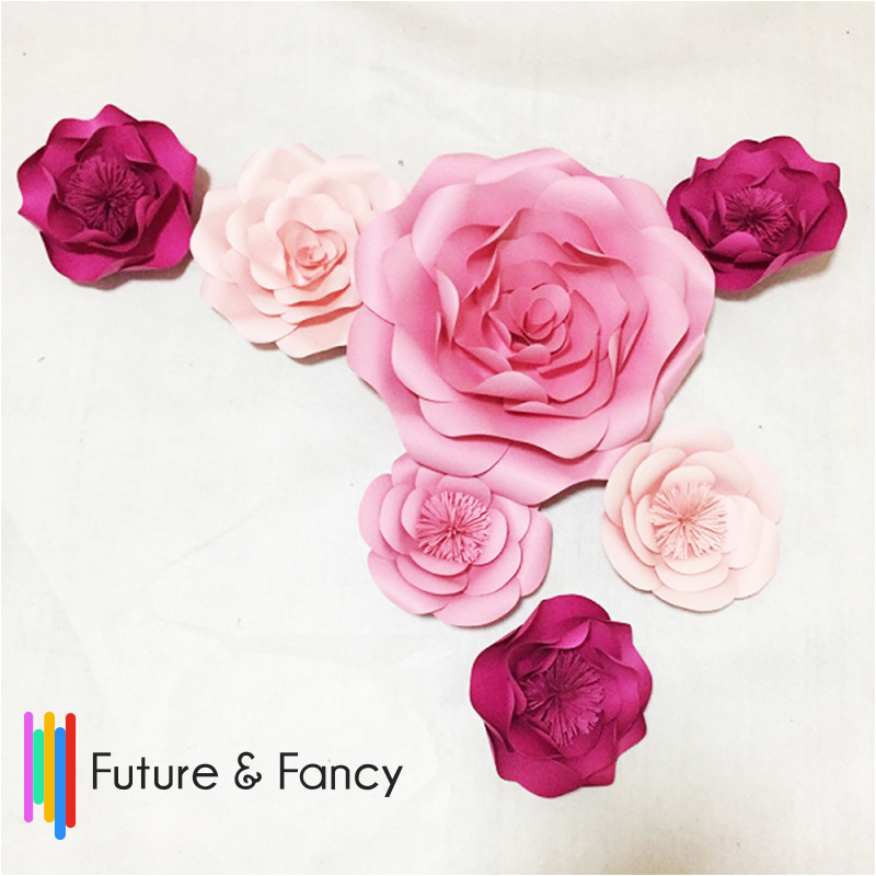 7pcs pink giant paper flowers for girls party wedding decor or wedding engagement baby shower decorpaper flower backdrop giant paper flowers wedding centerpiece wedding backdrop paper flower backdrop giant mightylinksfo