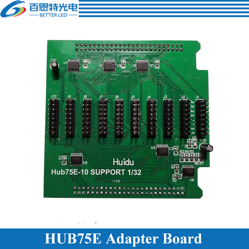 Full Color LED Display Conversion Card Hub75E Adapter Board Support 1/2, 1/4, 1/8, 1/16, 1/32 Scan