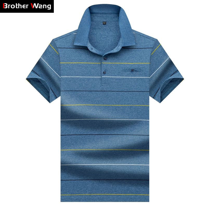 Brand Men's Business   POLO   Shirt 2020 Summer New Style Fashion Casual Stripe Cotton High Quality Short Sleeve   Polo