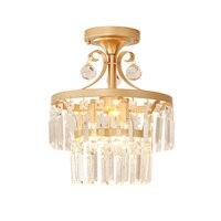 Новая классическая подвесные светильники nordic все медные K9 Кристалл повесить свет лампы столовой фойе Спальня E14 светодиодный светильник