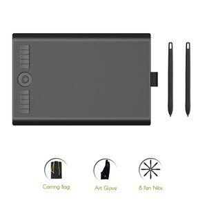 GAOMON M10K2018 версия с двумя батареями-Бесплатная ручка 8192 давление художника цифровой графический планшет для рисования и электронного письма