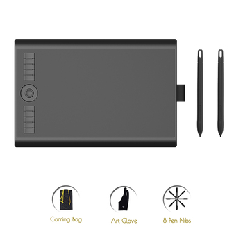 GAOMON M10K2018 Version with Two Battery-Free Pen 8192 Pressure Artist Digital Graphic Tablet for Drawing & electronic Writing