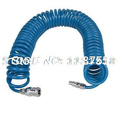 Blue 9m 29.5Ft 8mmx5mm PU Coil Pneumatic Hose Tube for Compressor Air Tool  триммер imetec hi man 1352a