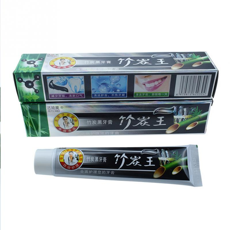 100% New 105g  Bamboo Toothpaste Charcoal All-Purpose Tooth Whitening Black Toothpaste #518