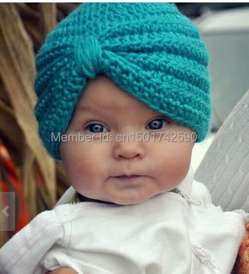 Crochet Baby Turban Hat para niños foto prop una pieza bebé gorro - Ropa de bebé