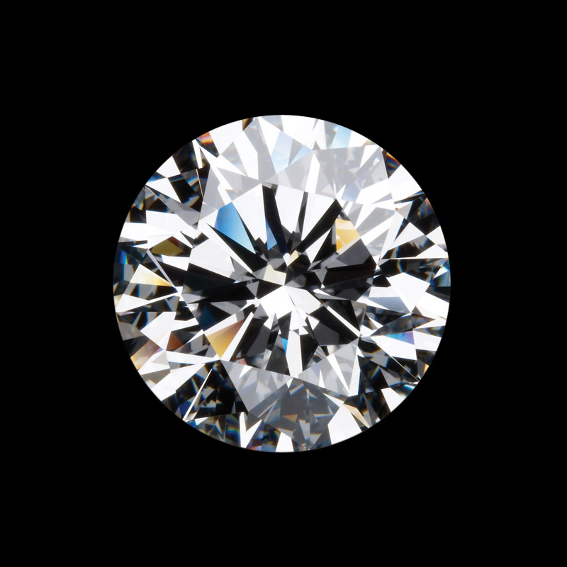 Certified Lab Grown 1 Carat High Quality Round Geniune Moissanite Stone Test As Real Most Brilliant