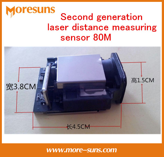 Fast Free Ship Good Second Generation laser distance Measuring font b Sensor b font 80M 1mm