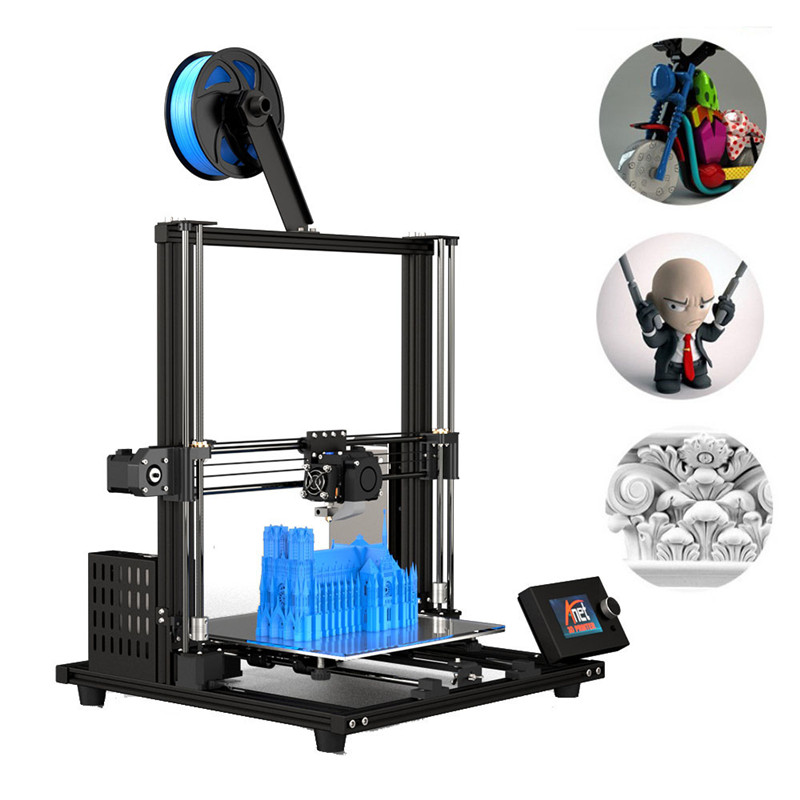 "3D Printer 11.8"" x 11.8"" x 13.8"" Pro Printing Large Print Size Full Color DIY Assembled Nozzle Heat Bed(China)"