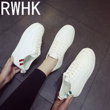 RWHK 2019 spring new shoes womens wild comfortable lace-striped sports running B018
