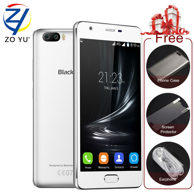 "bilder für Blackview A9 Pro Smartphone Android 7.0 MTK6737 Quad Core 2 GB 16 GB 5,0 ""HD 8.0MP Dual Kameras Fingerprint ID 4G LTE Handy"
