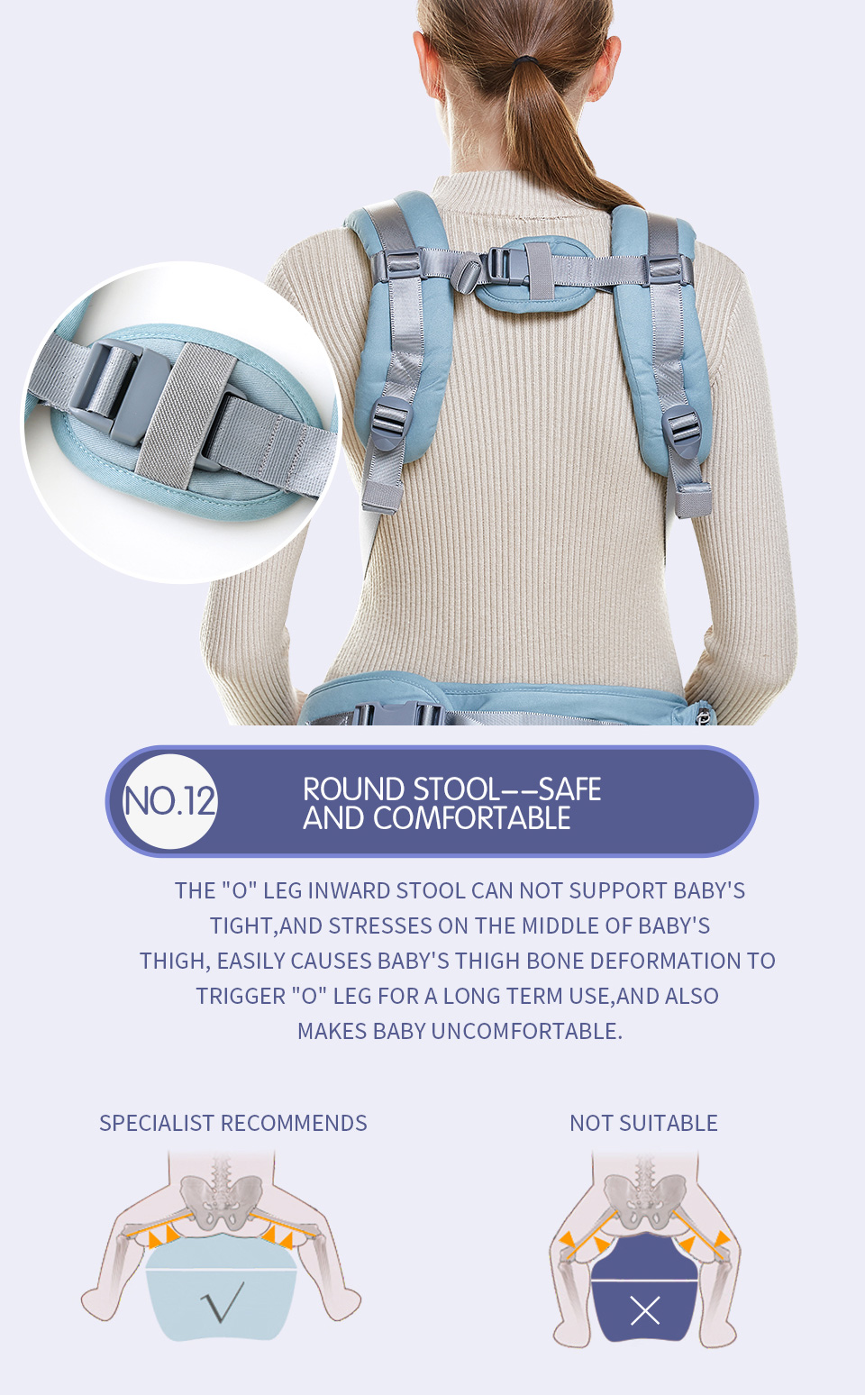 VIP Newborn Adjustable Sling Wrap Hipseat And Ergonomic Baby Carrier 10