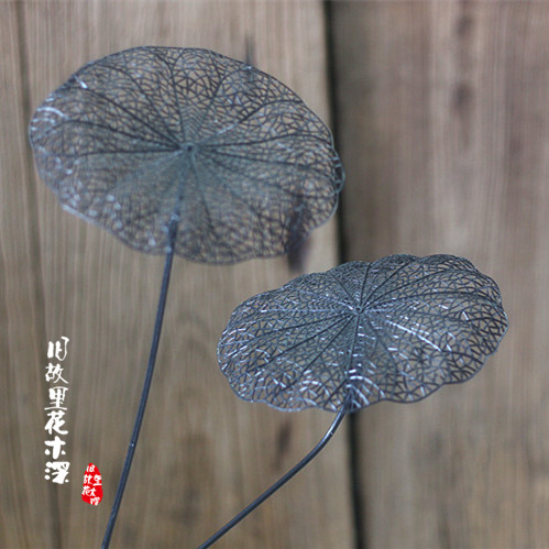 art lotus leaf plastic] simulation of dry leaf arrangement with the ...