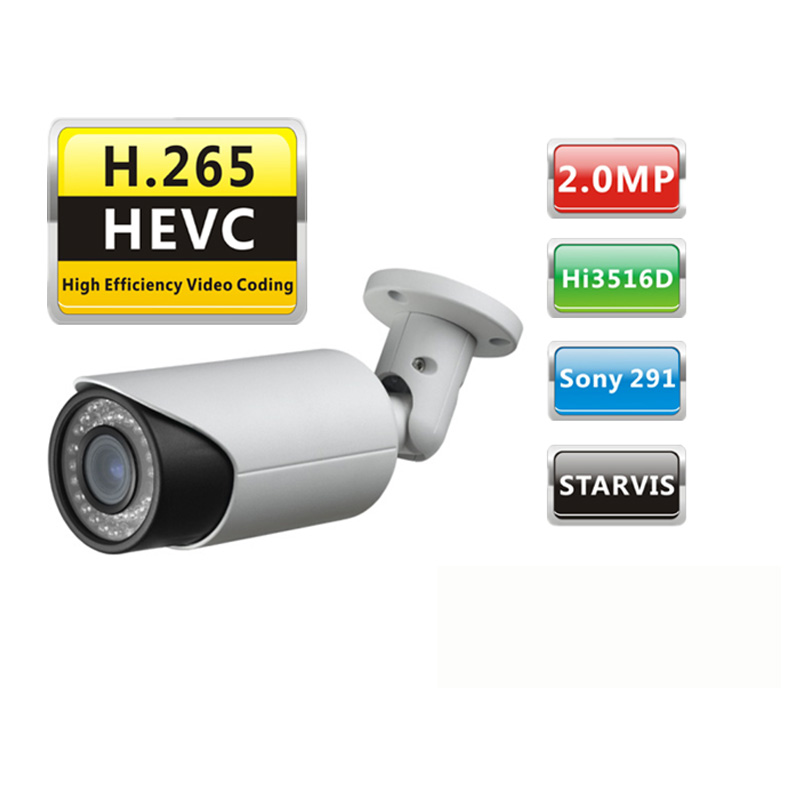 Shenzhen H.265 HD IMX291 STARVIS Bullet IP CCTV Camera With POE bullet camera tube camera headset holder with varied size in diameter
