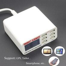 Новый быстрый Смарт зарядное устройство 6A Зарядное устройство USB с ЖК-цифровой дисплей 6 порт USB зарядное устройство быстрый смарт Зарядка для смарт- Телефон Tablet PC