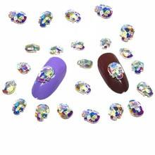 20Pcs Ab Skull Nail Art Crystals Decorations 3d Nail Charms Dekors Punk Jewelry NailArt Supplies Studs Design Cute Accessories