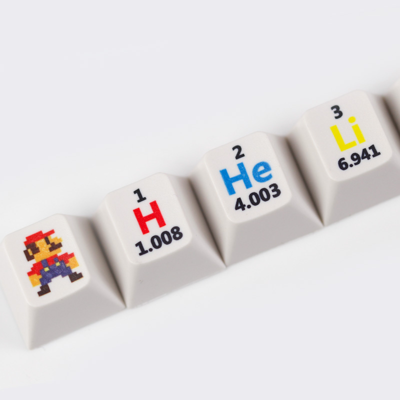 Sublimation cherry profile keycaps 13keys chemical element periodic table r4 esc personality for usb machanical keyboard in keyboards from computer sublimation cherry profile keycaps 13keys chemical element periodic table r4 esc personality for usb machan Image collections