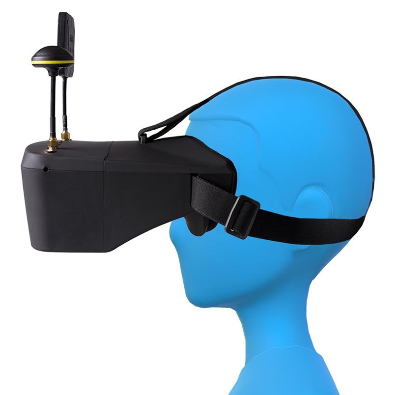 5.8G 40CH casque vidéo HD DVR 5 pouces 854*480 diversité FPV lunettes LS-800D avec batterie 2000 mAh pour Drone de course RC FPV