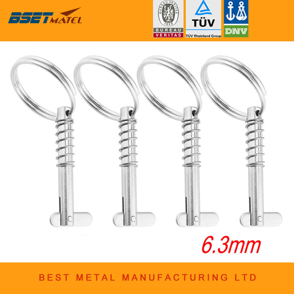 4PCS 6.3mm Marine Grade 316 Stainless Steel Quick Release Pin for Boat Bimini Top Deck Hinge Marine hardware Boat