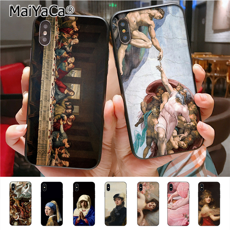 MaiYaCa Famous painting Adorable Drawing Phone Accessories Case for iPhone X XS XR XS MAX 8plus 7 6splus 5s se 5c 7plus case
