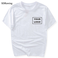 SDRawing Customized T shirt Women Female Print Your Own Design High Quality Send Out In 3 Days White Color SB- 000