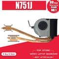 Novo portátil original notebook cpu radiador de refrigeração dissipador calor & ventilador para asus n751 n751j n751jk n751jx bk3 13nb06k1am0501 3hbk3tmjn00