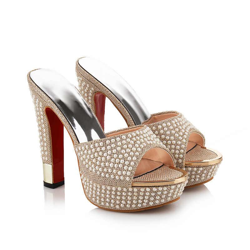 MEMUNIA 2020 neue kommen heißer verkauf frauen high heels sandalen mode sicken plattform peep toe sommer schuhe elegante