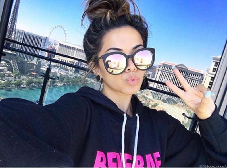 New High Quality Vintage Cat Eye Sunglasses Women Brand Designer Mirror Shades Female Sun Glasses For Women Round Sunglass Retro (3)