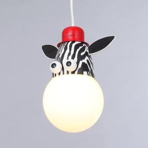 Image 5 - Novelty LED Bulb Light Cartoon Animal Monkey Zebra Giraffe Children Kids Bedroom Pendant Lamp Hang Pendent Light Sleeping Light