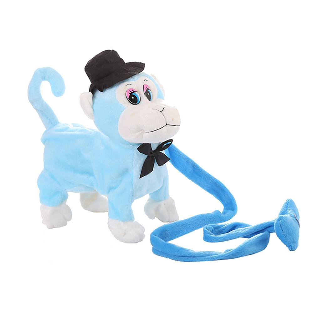 Electric Walking Dancing Plush Monkey with Leash Toddler Stuffed Animal Doll Toy 2