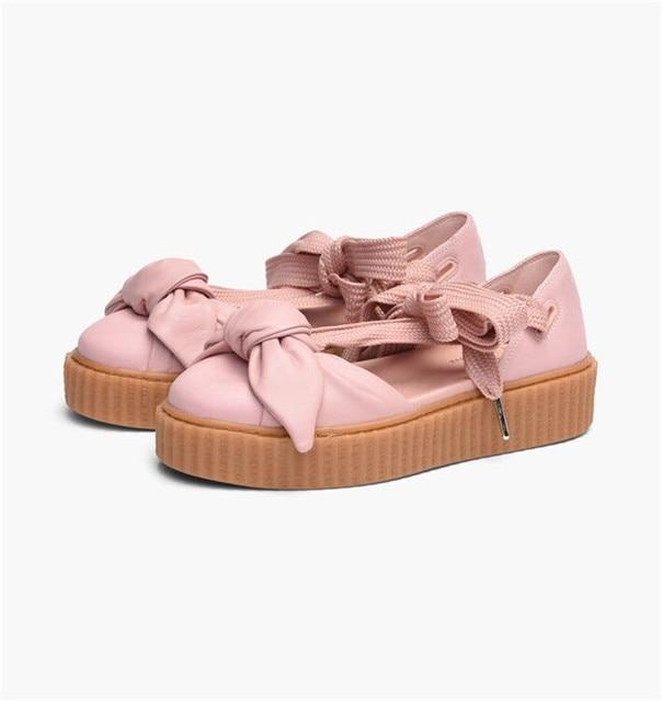 e532fef3dec8 2018 New Arrival PUMA Women s FENTY x PUMA Bow Creeper Sandals Women s Shoes  Size 35-40