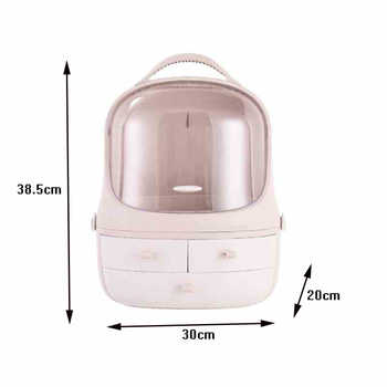 2019 Lnternet Celebrity Multi-functional Plastic Woman Cosmetic case Organizer Makeup Box Travel Portable Cosmetic Storage Box