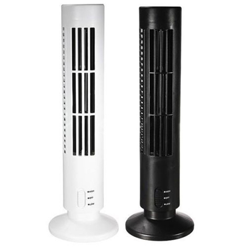 Mini Portable Usb Fan USB Cooling Fan Mini Durable Bladeless No Leaf Air Conditioner Cooling Cool Home Office Desk Tower Fan