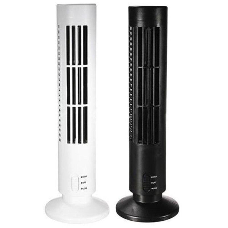 Mini ventilador Portátil usb ventilador de refrigeração do USB Mini Bladeless Durável No Leaf Air Conditioner Torre de Resfriamento Fresco home Office Desk fã